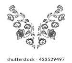 floral pattern   neck line... | Shutterstock .eps vector #433529497