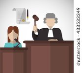 law concept. justice icon.... | Shutterstock .eps vector #433533349