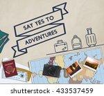 travel journey exploration... | Shutterstock . vector #433537459