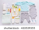 group of baby boy clothes and... | Shutterstock . vector #433539355