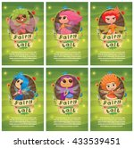 vector set of leaflets with... | Shutterstock .eps vector #433539451
