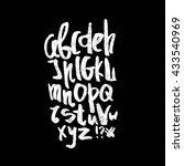 english alphabet. black and... | Shutterstock .eps vector #433540969