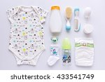 top view of unisex  newborn... | Shutterstock . vector #433541749