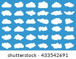 set of 36 different vector... | Shutterstock .eps vector #433542691