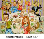 soap party   coronation street... | Shutterstock . vector #4335427