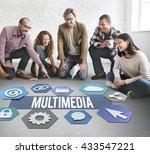 multimedia modern technology... | Shutterstock . vector #433547221