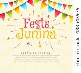 festa junina brazil festival... | Shutterstock .eps vector #433548979