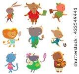 Vector Set Of Cartoon Images O...