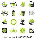 alternative energy simply icons ... | Shutterstock .eps vector #433557445