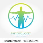 man's silhouette with open arms ... | Shutterstock .eps vector #433558291