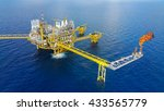 offshore construction platform... | Shutterstock . vector #433565779