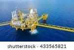 offshore construction platform... | Shutterstock . vector #433565821