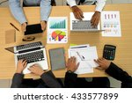 group of business starup man... | Shutterstock . vector #433577899