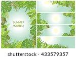green tropical backgrounds   Shutterstock .eps vector #433579357