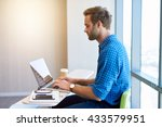 young entrepreneur in his new... | Shutterstock . vector #433579951