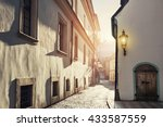 early morning in an old street. ... | Shutterstock . vector #433587559