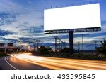blank billboard for... | Shutterstock . vector #433595845