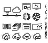 network  server icon set | Shutterstock .eps vector #433597894