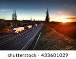 trucks on the road | Shutterstock . vector #433601029
