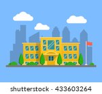 back to school illustration.... | Shutterstock .eps vector #433603264
