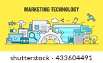 marketing technology vector | Shutterstock .eps vector #433604491