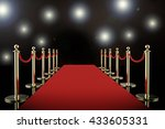 3d rendering red carpet and... | Shutterstock . vector #433605331
