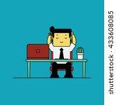 businessman relaxing after... | Shutterstock .eps vector #433608085