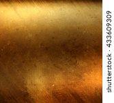 gold. gold metal. golden... | Shutterstock . vector #433609309