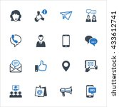 contact us icons set 4   blue... | Shutterstock .eps vector #433612741