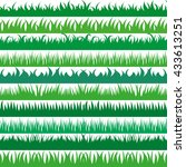 set of spring green grass... | Shutterstock .eps vector #433613251