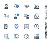 contact us icons set 2   blue... | Shutterstock .eps vector #433613731