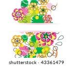 beautiful floral design | Shutterstock . vector #43361479
