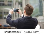 young business man taking... | Shutterstock . vector #433617394