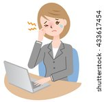 business woman suffers from... | Shutterstock .eps vector #433617454