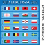 euro 2016. europe football | Shutterstock .eps vector #433618105