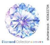 watercolor jewelry set. hand... | Shutterstock . vector #433622734