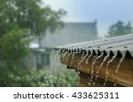 rain flows down from a roof down | Shutterstock . vector #433625311