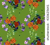summer flowers  seamless pattern | Shutterstock . vector #433625641