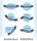 vintage labels and ribbons set... | Shutterstock .eps vector #433628431