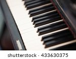 old scratched dusty piano close ... | Shutterstock . vector #433630375