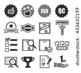 quality icon set | Shutterstock .eps vector #433632199