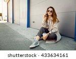 woman | Shutterstock . vector #433634161