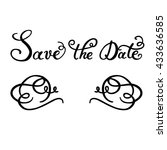 save the date of hand lettering ... | Shutterstock .eps vector #433636585