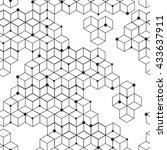 seamless modern texture.... | Shutterstock .eps vector #433637911