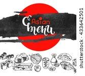 chinese japanese asian cuisine... | Shutterstock .eps vector #433642501