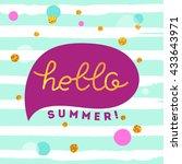 hello summer illustration | Shutterstock .eps vector #433643971