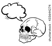black and white another skull... | Shutterstock .eps vector #433644274