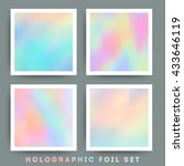 holographic foil vector ... | Shutterstock .eps vector #433646119
