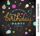 happy birthday illustration | Shutterstock .eps vector #433649845