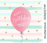 happy birthday card. birthday... | Shutterstock .eps vector #433652749
